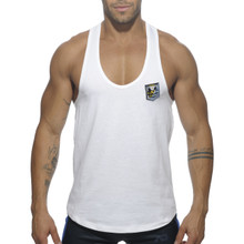 Addicted Contrast Tank Top White AD493 (AD493-01)
