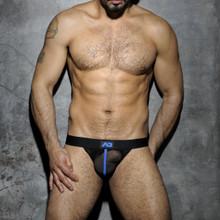 Addicted Underwear Fetish Mesh Jockstrap Royal Blue ADF05