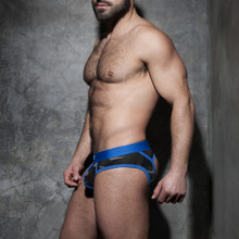 Addicted Underwear Camo Stripe Fetish Brief Royal Blue ADF62