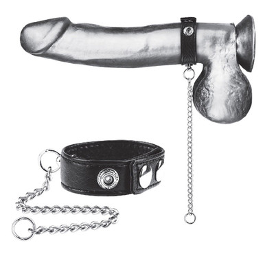 "Blueline Snap Cock Ring with 12"" Leash (BLM3041)"