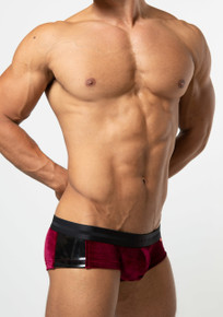 TOOT Underwear Deep Tone Velour Super Nano Trunk Red (SN23H332-Red)