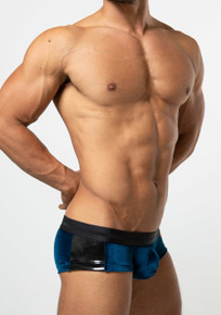 TOOT Underwear Deep Tone Velour Super Nano Trunk Blue (SN23H332-Blue)