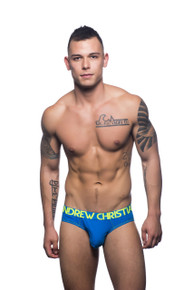 Andrew Christian Underwear Almost Naked Premium Brief Blue (90735-ELECT)