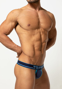 TOOT Underwear Neon Sign T-Back Thong Navy (TB22H339-Navy)