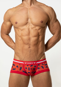 TOOT Underwear Yorkshire Printed Nano Trunk Red (NB47H341-Red)