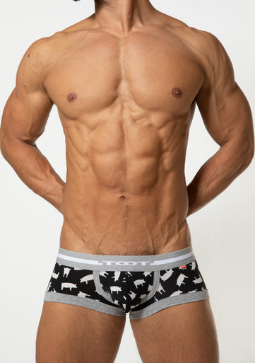 TOOT Underwear Yorkshire Printed Nano Trunk Black (NB47H341-Black)