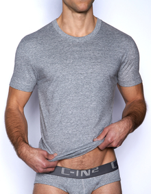 C-IN2 Core Crew Neck Pima Tee Grey Heather