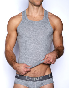 C-IN2 Core Square Neck Tank Grey Heather