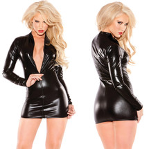 Sexy Siren Faux Leather  Dress