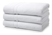 600GSM Luxury Royal Egyptian Double Yarn Bath Towels - White
