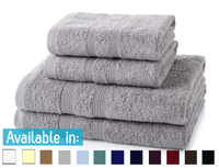 4 Piece 500GSM Towel Bale - 2 Hand Towels, 2 Bath Towels