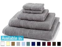 5 Piece 500GSM Towel Bale - 2 Face Cloths, 1 Hand Towel, 1 Bath Towel, 1 Bath Sheet