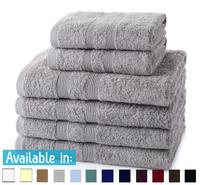 6 Piece 500GSM Towel Bale - 4 Hand Towels, 2 Bath Towels