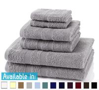 6 Piece 500GSM Towel Bale - 2 Face Cloths, 2 Hand Towels, 2 Bath Towels
