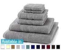 6 Piece 500GSM Towel Bale - 2 Face Cloths, 2 Hand Towels, 1 Bath Towel, 1 Bath Sheet