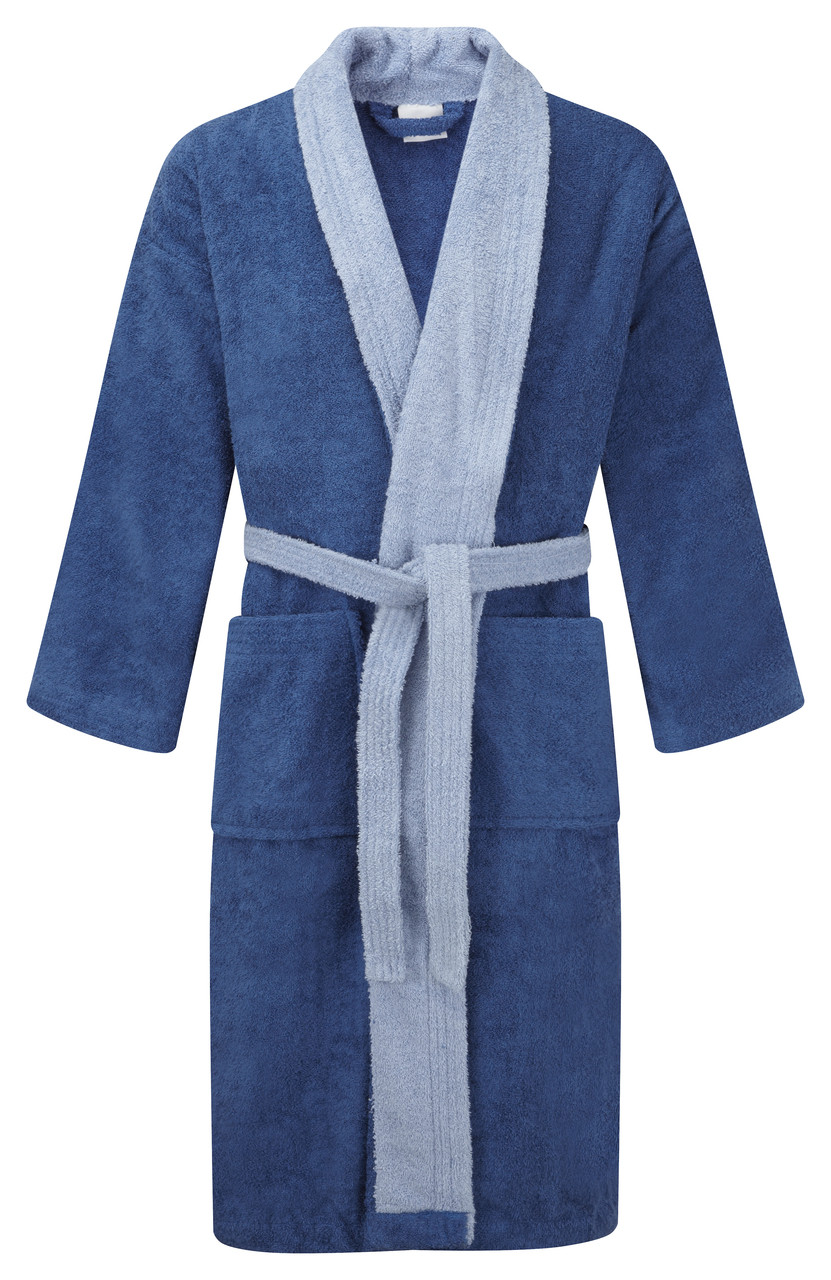 Dark Blue Robe   Light Blue Trim DRESSING GOWNS. Tap to expand. Click to  enlarge 4af16d75f