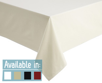Easy Iron Plain 100% Polyester Tablecloths