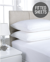 180TC Extra Deep Percale Fitted Sheets