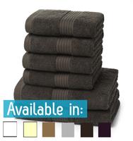 6 Piece 700GSM Towel Bale - 4 Hand Towels, 2 Bath Towels