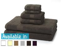 6 Piece 700GSM Towel Bale - 2 Face Cloths, 2 Hand Towels, 2 Bath Sheets