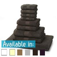9 Piece 700GSM Towel Bale - 4 Face Cloths, 2 Hand Towels, 2 Bath Towels, 1 Bath Sheet