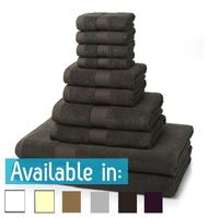 10 Piece 700GSM Towel Bale - 4 Face Cloths, 2 Hand Towels, 2 Bath Towels, 2 Bath Sheets