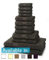 12 Piece 700GSM Towel Bale - 4 Face Cloths, 4 Hand Towels, 2 Bath Towels, 2 Bath Sheets