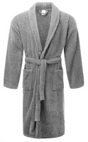 Grey Terry Towelling Bath Robes