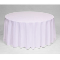 Easy Iron Plain 100% Polyester Round Tablecloths