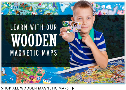 Wooden Magnetic Maps
