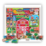 Wooden Farm Blocks Play Set & Storybook | T.S. Shure