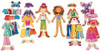 Daisy Girls Wooden Magnetic Dress-Up Dolls | T.S. Shure