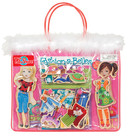 Fashion-A-Belles Wooden Magnetic Dress-Up Dolls | T.S. Shure