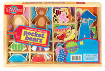 Pocket Bears Wooden Magnetic Dress-Up Dolls | T.S. Shure
