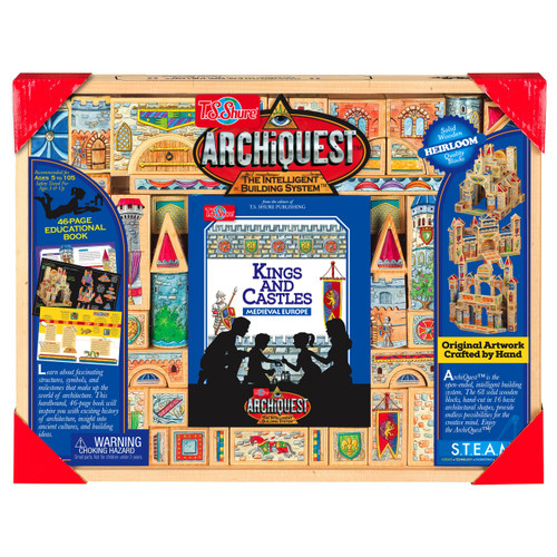 ArchiQuest Kings and Castles Medieval Europe Wooden Blocks | T.S. Shure
