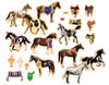 Horse Breeds: Wooden Magnetic Horses   T.S. Shure