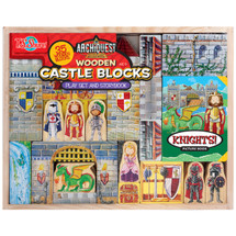 ArchiQuest Wooden Castle Blocks Playset & Storybook | T.S. Shure