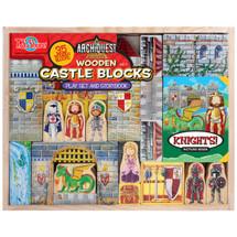 ArchiQuest Wooden Castle Blocks Playset & Storybook | T.S. Shure