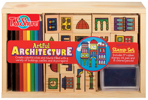 Artful Architecture Wooden Stamp Set | T.S. Shure