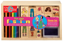 Fun with Fashion Wooden Stamp Set | T.S. Shure