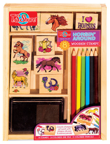 Fancy Horses Wooden Stamp Set | T.S. Shure