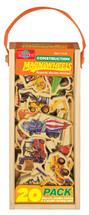 Construction Vehicles Wooden Magnets - 20 Piece MagnaFun Set | T.S. Shure