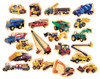 Construction Vehicles Wooden Magnets - 20 Piece MagnaFun Set | T.S. Shure