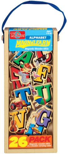Alphabet Letters Wooden Magnets - 20 Piece MagnaFun Set | T.S. Shure