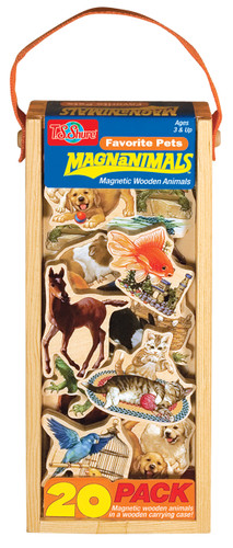 Favorite Pets Wooden Magnets - 20 Piece MagnaFun Set | T.S. Shure