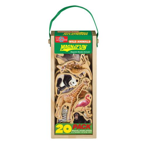 Wild Animals Wooden Magnets - 20 Piece MagnaFun Set   T.S. Shure