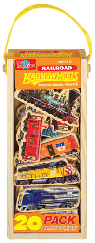 Railroad Vehicles Wooden Magnets - 20 Piece MagnaFun Set | T.S. Shure