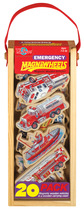 Emergency Vehicles Wooden Magnets - 20 Piece MagnaFun Set | T.S. Shure