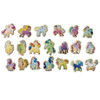 Unicorns and Ponies Wooden Magnets - 20 Piece MagnaFun Set | T.S. Shure