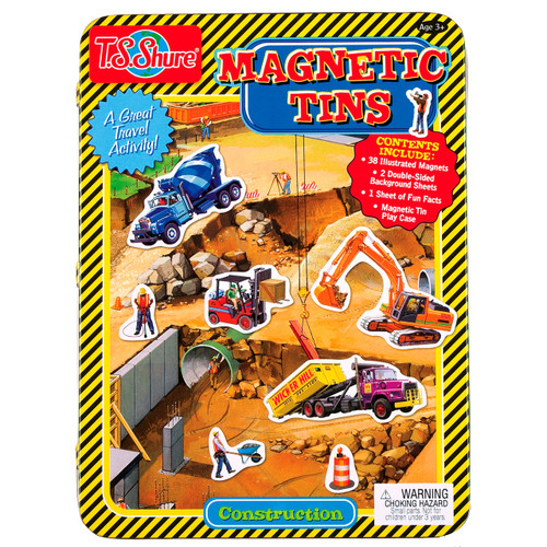 Construction Magnetic Tin Playset | T.S. Shure